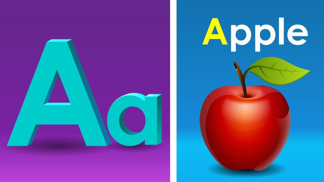 английский алфавит для малышей буква а в картинках